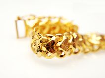 Yellow gold jewelry Royalty Free Stock Images