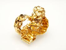 Yellow gold jewelry Stock Image