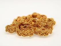 Yellow gold jewelry Stock Photos