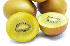 Yellow gold kiwi fruit Stock Photography