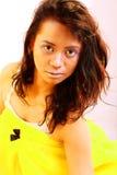 Yellow gold makeup Royalty Free Stock Photos