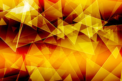 Yellow gold triangle  background Stock Images