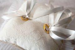 Yellow gold wedding rings Stock Photos