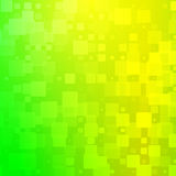 Yellow golden green shades glowing rounded tiles background Stock Image