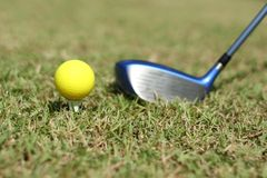 Yellow Golf ball Royalty Free Stock Images