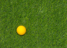 Yellow golf ball Stock Image
