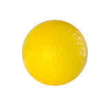Yellow Golf ball isolated on white with clipping path. Royalty Free Stock Photography