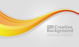 Yellow gradation wavy background template vector illustration