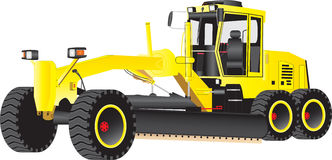 Yellow Grader Stock Photo