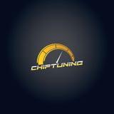 Car chip tuning logo yellow gradient vector design. Car chip tuning logo vector logo design and background royalty free illustration