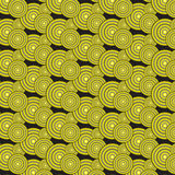 Yellow gradient circles pattern background. Yellow gradient circles pattern vector illustration image on black background Stock Image