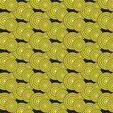 Yellow gradient circles pattern background. Yellow gradient circles pattern vector illustration image on black background vector illustration
