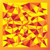 Yellow gradient polygon Stock Photos