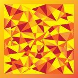 Yellow gradient polygon Stock Photos
