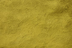 Yellow grainy wall surface texture for background Stock Photography