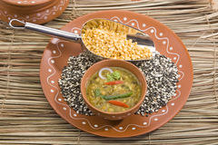 Yellow Gram & Split Black Lentils Stock Photography