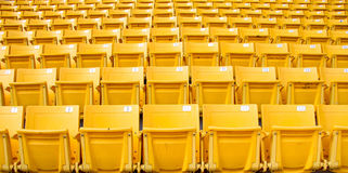 Yellow grandstand Royalty Free Stock Photo