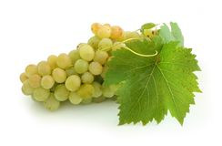 Yellow grape cluster Royalty Free Stock Photo