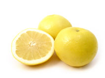 Yellow grapefruit Stock Images