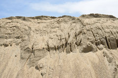 Yellow gravel sand mound Royalty Free Stock Photography