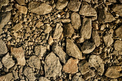 Brown gravel texture Stock Image
