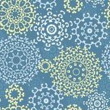 Yellow gray abstract mandalas seamless pattern background. Vector yellow gray abstract mandalas seamless pattern background stock illustration