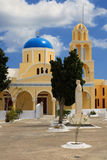 Yellow greek church Royalty Free Stock Image
