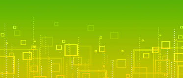 Yellow-green abstract background of squares stock illustration