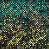 Yellow-green abstract mosaic background Stock Photos