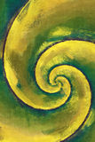 Yellow and green abstract swirl Stock Photos