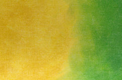 Yellow and green  abstract texture painted on art canvas backgro Royalty Free Stock Photography