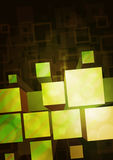 Yellow-green background. With a bulky prisms Stock Image