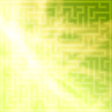 Yellow-green background with maze Stock Photo