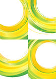 Yellow green background vector Stock Photography