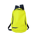 Yellow-green backpack isolated with path royalty free stock image