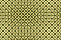 Yellow Green Bamboo Diamond Shape Abstract Geometric Pattern royalty free illustration