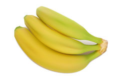 Yellow-green bananas. Royalty Free Stock Images
