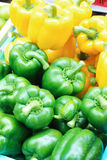 Yellow and green bell peppers Royalty Free Stock Image