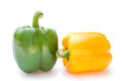 Yellow and green bell peppers Stock Photography