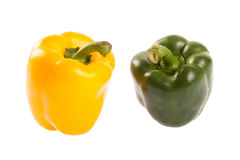 Yellow and green bell peppers Royalty Free Stock Photo