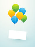 Yellow green blue balloons Royalty Free Stock Photo