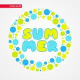 Yellow green and blue bubbles summer vector pattern.Decorative design element. Abstract happy kid`s illustration for decoration,. Yellow green and blue bubbles