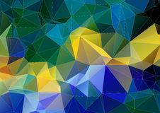 Yellow green blue polygonal background. Yellow green blue abstract polygonal background Royalty Free Stock Image