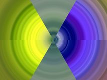 Yellow blue purple circular shades, geometries, lines background, abstract colorful geometries. Yellow green blue purple circular shades, lines, contrasting stock illustration