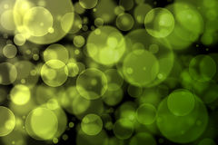 Yellow and green bokeh abstract light background Royalty Free Stock Photography