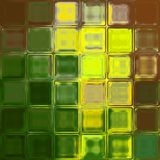Yellow green brown glass tiles background Stock Image