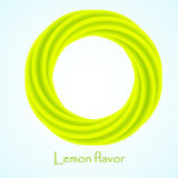Yellow and green business abstract circle icon for your design. logotype. Vector illustration. Royalty Free Stock Photo