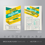 Yellow green business brochure flyer design layout template in A Stock Photos