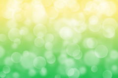 Yellow and green circle shape boke background Stock Images