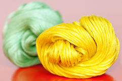 Yellow and green clews Stock Photos